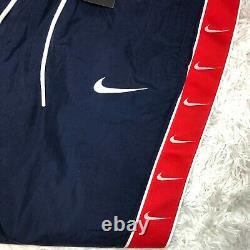 New Nike Sportswear Mini Swoosh Pants Woven NAVY Pants CD0421-381 Men's Sz L