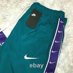 New Nike Sportswear Mini Swoosh Pants Woven TEAL Pants CD0421-381 Men's Sz XL