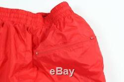 New Vintage 90s Lotto Mens Large Spell Out Lined Nylon Jacket Joggers Pants Red