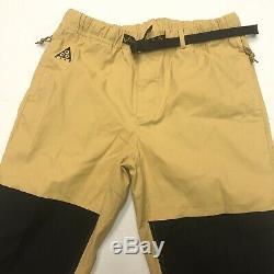 Nike ACG Trail Pants Club Gold Black CD4540 723 Mens Size Medium