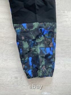 Nike ACG Trail Pants Men Sz Large All Over Print Racer Blue Heritage CI0453-010