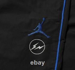 Nike Air Jordan Fragment Woven Jogger Pants Black Blue White DA2979-010 Mens XXL