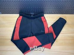 Nike Air Jordan Tech Fleece Pants Joggers Black Red Retro 1 OG Bred Mens Small