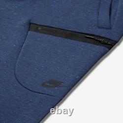 Nike Air MEN'S Sportswear Tech Fleece SIZE 3XL NEW Coastal Blue Heather Black