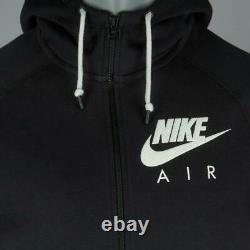 Nike Air Mens Fleece Tracksuit Full Set Black Hoodie Joggers Track pants Bottoms