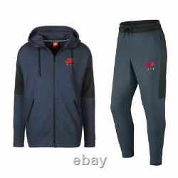 Nike Air Mens NSW Fleece Full Tracksuit Hoodie Jacket Pants Joggers