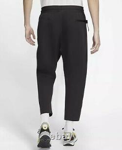 Nike Air Sportswear Tech Pack Cropped Woven Black Jogger Pant AR1562-010 Size L