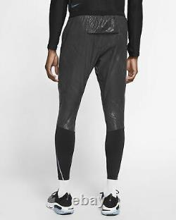 Nike Flex Swift Running Pants Joggers Black Silver Metallic Reflective Medium