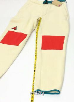 Nike Lab ACG Sherpa Fleece Sweat Pants Jogger Cream AJ2014-258 Men's Small (MJ2)