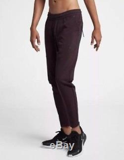 Nike Men's SPORTSWEAR TECH PACK FLEECE JOGGER Pants Burgundy 928575-659 c