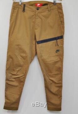 Nike Men's Tech The One Golden Beige Tapered Jogger Pants Size 34