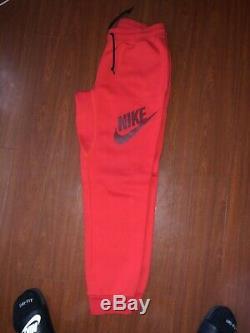 Nike Mens Aw77 Fleece Logo 26 Cuffed Sweatpants Medium 647567-600 Pants Joggers