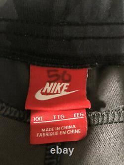 Nike Mens Black Green Camo Tech Fleece Sweat Pants Jogger XXL Cuffed Tapered