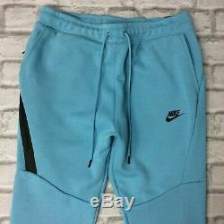 Nike Mens Cerulean Blue Tech Fleece Full Zip Joggers Pants Hoodie Rrp £80