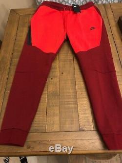 Nike Mens Nsw Tech Fleece Pants Joggers Sz L Team Red/university Red 805162 677