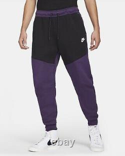 Nike Mens Sportswear Tech Fleece Pants Jogger Violet Black CU4495-503 Size L