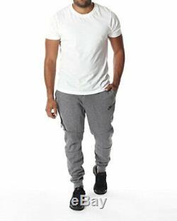 Nike Mens Tech Fleece Jogger Pant Carbon Heather/Cool Grey 805162-091