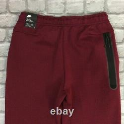 Nike Mens Uk M Maroon Red Tech Fleece 2020 Joggers Track Pants Rrp £80 Kl