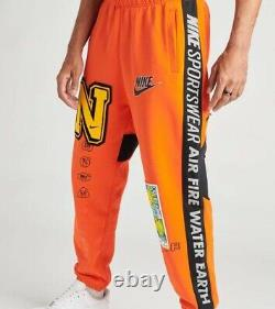 Nike NSW Mens element heavyweight joggers Pants team orange Sz Large DC2723-891