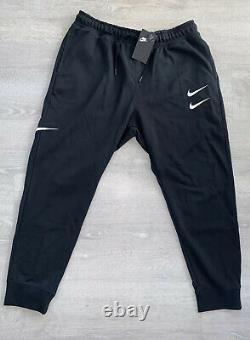 Nike NSW Sportswear Swoosh Woven Pants Black Mens Size Medium DB4955-010 New