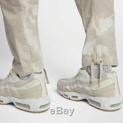 Nike NSW Woven Camo Joggers Light Bone Size M Men Sportswear Pants 930253-121