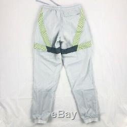 Nike NikeLab Clot A20 Woven Jogger Pants Track Pants Grey Volt Green Men's XS