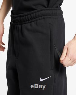 Nike NikeLab Collection Men's Fleece Pants L Joggers Heavy Sweatpants Black
