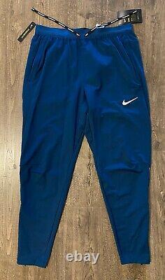 Nike Phenom Dri-Fit Knit Men's Medium M Running Pants Valerian Blue BV4813-432