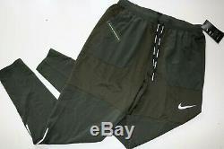 Nike Phenom Men Knit Woven Running Joggers Pants Trousers Sequoia Bv4837-355 M