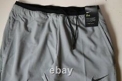 Nike Pro Flex Rep Men Training Dri Fit Pants Trousers Joggers -grey Cu4980-073 M