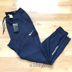 Nike Pro Men Size XL Training Pants Navy BV5515-451 Dr-Fit Slim Fit Jogger