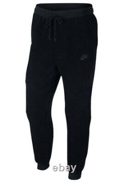 Nike Sportswear Mens Sz L Tech Fleece Icon Sherpa Black Joggers Pants AQ2769-010