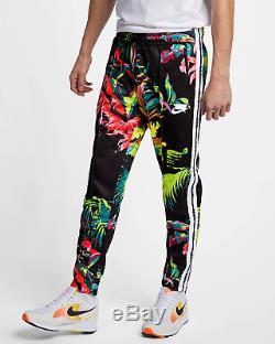 Nike Sportswear NSW Men's Floral Track Pants XL Black Cyber Green Multi
