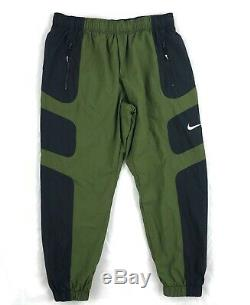 Nike Sportswear Re-Issue Woven Jogger Pants Olive Green Black White Men's Medium