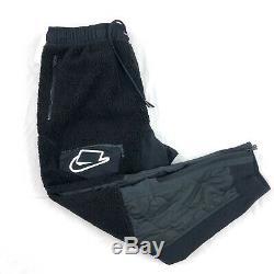 Nike Sportswear Sports Pack Sherpa Jogger Pants Black White BV4607-010 Men's M-L