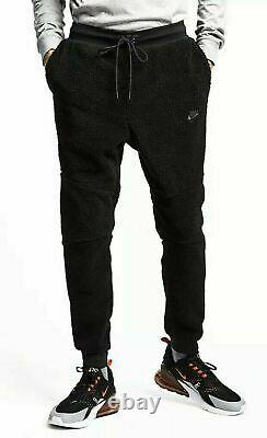 Nike Sportswear Tech Fleece Icon Sherpa Black Joggers Pants AQ2769-010