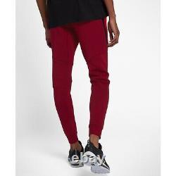 Nike Sportswear Tech Fleece Jogger Pants Men Size LargeUniversity Red 805162-677