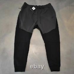Nike Sportswear Tech Fleece Jogger Pants Men's Size XXL 805162 012 Black Grey