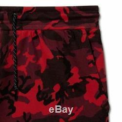 Nike Sportswear Tech Fleece Jogger Pants Red Camouflage Camo 682852 677 Men's L