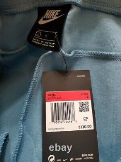 Nike Sportswear Tech Fleece Joggers Men's Sz Large NEW 805162-425 Cerulean/Black