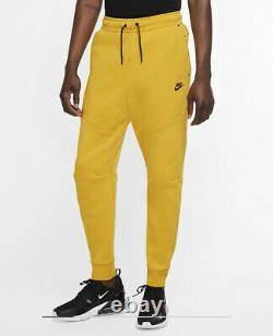 Nike Sportswear Tech Fleece Men's Small S Joggers Dark Sulfur Black CU4495-743