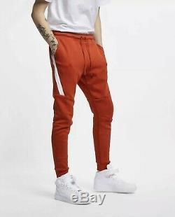 Nike Sportswear Tech Fleece Mens Large Joggers Pants Mystic Red White 805162-622