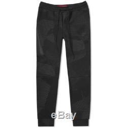 Nike Sportswear Tech Fleece Mens Trousers XL Black Jacquard Pants Print Joggers