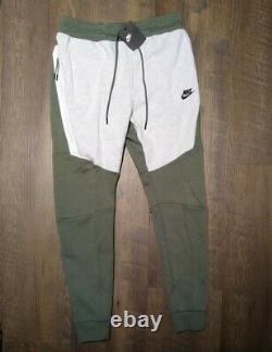Nike Sportswear Tech Fleece Pants Joggers 805162-351 Green / Grey Mens S Small
