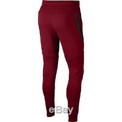 Nike Sportswear Tech Fleece Pants Joggers 805162-678 Team Red Black Size Small