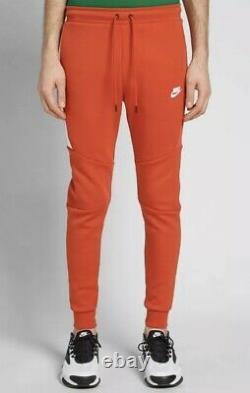 Nike Sportswear Tech Fleece Pants Red Size Medium Slim Fit Taper 805162-622 Rare