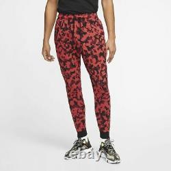 Nike Sportswear Tech Fleece Tracksuit Set Hoodie Pants Red Camo Size L