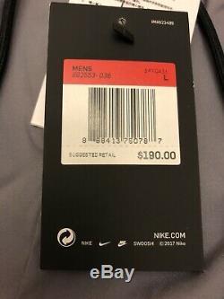 Nike Sportswear Tech Knit Joggers Pants Gunsmoke Black Men Size Large 892553-036