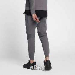 Nike Sportswear Tech Knit Joggers Pants Men's sz Large Gunsmoke Black 892553-036