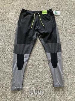 Nike Sportswear Tech Pack Knit Jogger Pant Black/Volt/Grey AR1589-010 Size XL